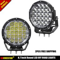 Wholesale round tractor lights resale online - 8 quot inch Round W W x4 Driving Lights For Car Tractor Boat Off Road WD Truck SUV ATV Fog Beam Headlights x2pcs
