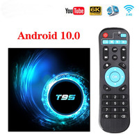 Wholesale core player resale online - T95 Smart TV Box Android GB GB GB Allwinner H616 Quad Core P H K Media player GB GB Set top box