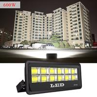 ángulo de haz del proyector al por mayor-Luminaria de inundación LED para exteriores 600W 500W 400W 300W IP66 Impermeable Exterior COB Proyector Proyector de ángulo de haz de 90 grados