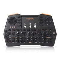 ingrosso i8 mouse d'aria-VIBOTON Plus Retroilluminazione portatile Mini tastiera senza fili TouchPad per TV Box Gaming Air Mouse Telecomando Russo Spagnolo i8 BA