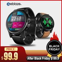 relógio inteligente quad core venda por atacado-Zeblaze thor 4 pro 4g lte smart watch telefone android 7.1.1 quad core 16g 1g 5mp câmera gps sim wifi bt4.0 mic smartwatch homens senhora