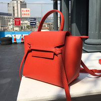 Wholesale satchel resale online - Colorful2019 Package Catfish Genuine Leather Woman Trumpet Classic Fund Hand Bill Of Lading Shoulder Satchel