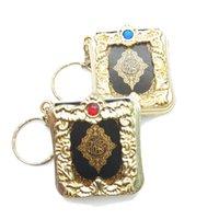 corán corán al por mayor-Llavero Corán islámico pequeñas joyas colgante religioso colgante llavero mini-Koran