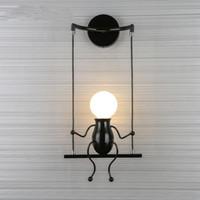 ayna aydınlatma toptan satış-Yaratıcı Karikatür Led Duvar Işık Modern Yatak Odası Başucu Çocuk Odası Banyo Ayna Işıklar Duvar Lambaları Ev Dekorasyonu Işık Fikstür
