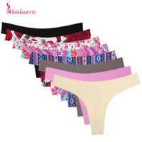 görünmez g string panties toptan satış-Wealurre Yeni Kadın İç Çamaşırı Görünmez Dikişsiz T Külot G-string Kadın Seksi Thongs Ultrathin Lingerie Bayanlar Külot Intimates C19040901