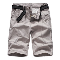 6db59cf9b1 2019 Fashion Summer Cargo Shorts Mens Brand Army Tactical Shorts Casual  Loose Work Cotton Short Pants No Belt For Male
