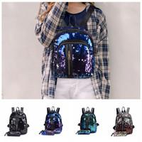 ingrosso borse per zaini-4 stili Mermaid Zaini Glitter School Bag Zaino Paillettes Bookbags Borsa Outdoor Travel Zaino Con Astuccio 2 pz / set FFA2039
