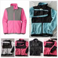 ingrosso vestiti per bambini di pile-North New Kids Designer vestiti dei ragazzi caldo pile softshell sciare giù giacche invernali moda bambino antivento vestiti della ragazza giacche rosa cappotti