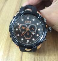 спортивные силиконовые часы для мужчин оптовых-Классический стиль высокого качества швейцарский бренд INVICTA LOGO вращающийся циферблат спорт на открытом воздухе мужские часы марки Силиконовые кварцевые часы