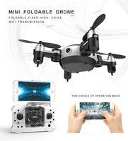 hd mini helikopter kamera toptan satış-Yeni Profesyonel RC Helikopter KY901 WiFi FPV RC Quadcopter Mini Drone HD Wifi Kamera Ile Katlanabilir Özçekim Drone RC Oyuncak VS H37 H31
