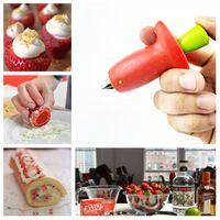 erdbeer-corer großhandel-Strawberry Corers Stem Huller Remover Tomaten Stiele Stem Remover Strawberry Feeder Obst Küche Gemüse Werkzeuge T2I5190