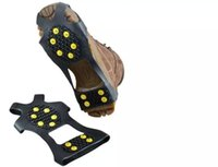 Wholesale Anti slip Snow Ice Shoe Gripper Spike Cleat Crampon Size S M L XL With Skin Packing Steel Studs