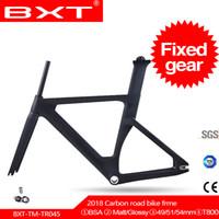 vitesli bisiklet karbonunu sabitleyin toptan satış-BXT 2019 yeni tam karbon parça çerçeve Çatal ile seatpost T800 sabit dişli Karbon Parça Bisikleti Frameset yarış bisikleti çerçeve için kullanılan