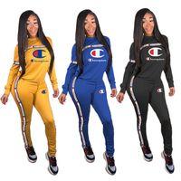 sıcak spor giyim toptan satış-Kadın Iki Parçalı Setleri Tasarımcı Hoodies + Tayt Kıyafetler İnce Pantolon Spor Pantolon Eşofman Giysi Güz Kış SıCAK Satış DHL 987