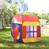Wholesale tent houses for sale - Group buy House Indoor and Outdoor Easy Folding Ocean Ball Pool Pit Game Tent Play Hut Girls Garden Playhouse Kids Children Toy Tent