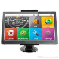 3d haritalar toptan satış-7 inçlik otomobil GPS navigasyon kamyon dokunmatik ekran bluetooth AVIN otomobil GPS WinCE MP4 FM vericisi DDR256MB 8GB 3D harita EEA34