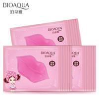 Wholesale lip collagen online - BIOAQUA Skin Care Crystal Collagen Facial Mask Lip Mask Moisture Essence Lip Care Pads Patch Pad Gel