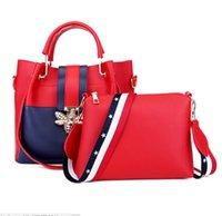 пакет пчел оптовых-Горячая розничная новый women \ в сумка Европейский и американский мода пчелы пряжки мобильный ребенок сумка диагональ из двух частей пакет
