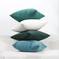 Wholesale velvet seat covers resale online - Velvet Pillowcase Candy Color Throw Pillow Case For Sofa cm Solid Home Decorative Pillowcase Car Seat Cushion Cover Styles Gifts