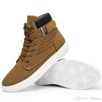 i̇ngiliz erkek çizmeleri toptan satış-Moda Erkekler Çizmeler Açık Kar Ayak Bileği Çizmeler Erkek Lace Up kaymaz Patik İngiliz Martin Ayakkabı