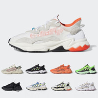 Wholesale sport shoes footwear for sale - Group buy Pusha T X Ozweego Xeno Men Women Running Shoes Footwear Cloud White Bold Orange Solar Yellow Halloween Tones Core Black Sports Sneakers