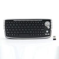 bolas de teclado venda por atacado-G13 Gaming Keyboard 2.4 GHz Teclado Sem Fio Mini Com Built-in Bola Pista Mouse Para Smart TV PC Teclado Gamer L0507