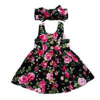 vestidos de casamento de verão bebê menina venda por atacado-2019 verão de manga comprida meninas vestido baby girl roupas botão floral vestido pageant casamento vestidos vestidos de verão roupa
