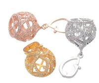 acessórios de cobre jóias venda por atacado-17X35mm de Metal De Cobre Borla Tampas Do Grânulo Pave Contas de Zircão Resultados Da Jóia Longa Colar De Pérolas Borla Pingente Acessórios
