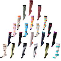Wholesale socks for travel resale online - 40 Styles Professional Compression Socks Sports Stretch Sock Breathable Activities Fit for Nurses Shin Splints Flight Travel Sports M1299