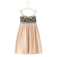 keten işlemeli yazlık elbiseler toptan satış-4-14 Yıl Genç Kız Çin Tarzı Pamuk Keten Kolsuz Işlemeli Çiçek Çocuklar Uzun Elbise 2019 Yeni Yaz Sling Plaj Elbise J190615