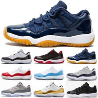 Wholesale red highlighter for sale - Group buy Jumpman Mens s basketball shoes highlighter Red Green Blue Oreo Black White BHM Jumpman XI Lows Sneakers Size