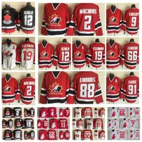 Wholesale iginla jersey for sale - Group buy Fashion Retro Canada Team Jersey Sidney Crosby Jarome Iginla Steve Yzerman Mario Lemieux Red White Mens Stitched Hockey Jerseys