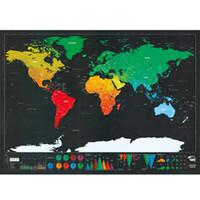 papel de parede efeito de couro venda por atacado-Deluxe Erase Preto Raspe risco de viagem personalizada para Map Room Decoração Wall Stickers