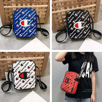 Wholesale fanny pack purse leather for sale - Group buy Handbags Purse Crossbody Bags Champion Waist Bag Fanny Pack Chest Shoulder Bags PU Leather Print Beach Sports Tote color C61706