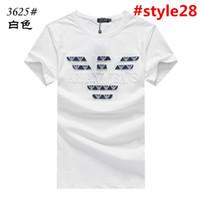 ingrosso uomini di seta t-shirt-T-shirt uomo manica corta da uomo marca college britannica uomo t-shirt da uomo t-shirt uomo estate 2019