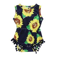 d9ad67433efb Baby Clothes Baby Rompers Girls Infant Short Sleeve Flower Print Tassel  Jumpsuit Romper Baby Costume disfraz bebe 3J10