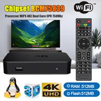iptv usb tv toptan satış-MAG 322 Infomir Linux IPTV Set Top Box Multimedya Oynatıcı İnternet TV IP Alıcısı desteği HEVC H.265 HDMI XstreamTec USB WLAN WiFi