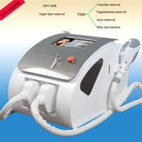 ingrosso mercato leggero-Laser SHR portatile macchina di ringiovanimento della pelle di IPL UK lampada importata E-Light IPL caldo nel mercato