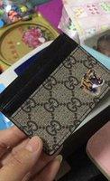 bancaria tarjeta de crédito al por mayor-2018 Comercio al por mayor 100% de cuero real ID conveniente Banco de crédito Estuche para tarjeta de crédito Tarjeta delgada Monedero Hombre Mujer Tarjetas Titular de la tarjeta NUEVO