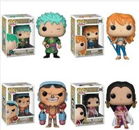 Wholesale anime toy collection for sale - Group buy Funko Pop One piece Nami Roronoa Zoro Franky Anime Action Figure Collection Model Hot Toys Birthdays Law