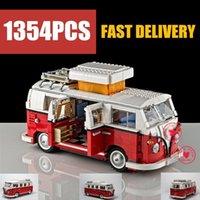 Wholesale van toy for sale - Group buy NEW Creator Camper Racing Van Car Fit ings Technic City Model Building Block Bricks Toys Gift Kid Birthday Christmas