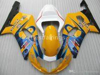 Wholesale yellow k5 fairing resale online - All new fairing kit for SUZUKI GSXR600 GSXR750 white blue yellow GSXR K4 K5 fairings DF00