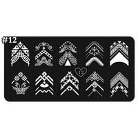 französische nail art bilder großhandel-1x Stilvolle Nail Art Printing Bild Stamping Platten Verschiedene Französisch Tipps Muster DIY Maniküre Stempel Vorlage Platten Werkzeuge TIXIN-12