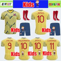 57af33649 Wholesale colombia kits online - Kids Kit Colombia Child Youth Boys Soccer  Jersey Copa America Home