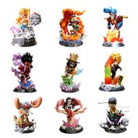 einteilige zerhackerfiguren großhandel-Anime One Piece GK Getriebe Vierte Ruffy Zoro Nami Sanji Robin Chopper PVC Action Figure Sammlung Modelle Spielzeug