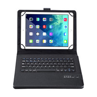 Wholesale case for android tablet inches resale online - 2 in Wireless Bluetooth Rechargeable QWERTY Keyboard for inch inch IOS Android Windows Tablets Keyboard Case