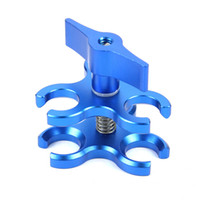 Wholesale camera tripod ball online - Aluminum Hole hole Butterfly Clip Clamp Light Arm Clamp Ball Head Camera Bracket Diving Clamp For Action Camera Tripod