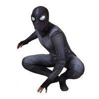 costume d'homme d'araignée zentai achat en gros de-2019 Nouvelle Spider Man Loin De La Maison Costume Furtif Costumes Cosplay Peter Parker Costume Zentai Body Adultes Enfants Ball Combinaisons C32