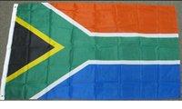 latón sur al por mayor-Sudáfrica Flag 3x5FT 150x90cm la impresión del poliester cubierta colgante al aire libre de la bandera nacional vendedor caliente de latón con ojales envío