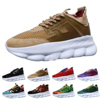 Wholesale branded shoes lightweight for sale - Group buy Classic Luxury Chain Reaction Brand For Men Women Designer Sneakers luxury Shoes Lightweight Rubber Designer Sneakers Size